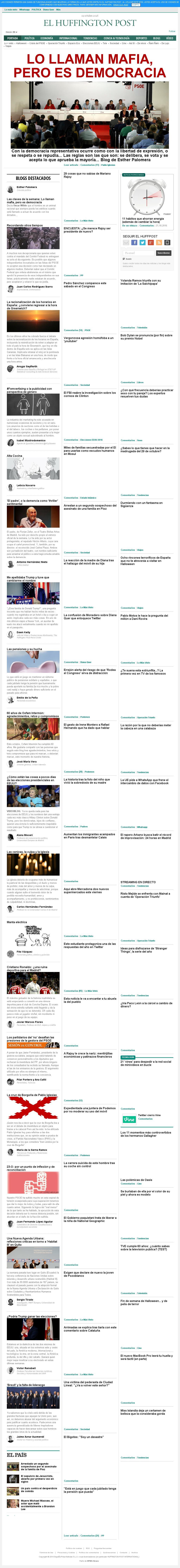 El Huffington Post (Spain) at Saturday Oct. 29, 2016, 10:05 a.m. UTC