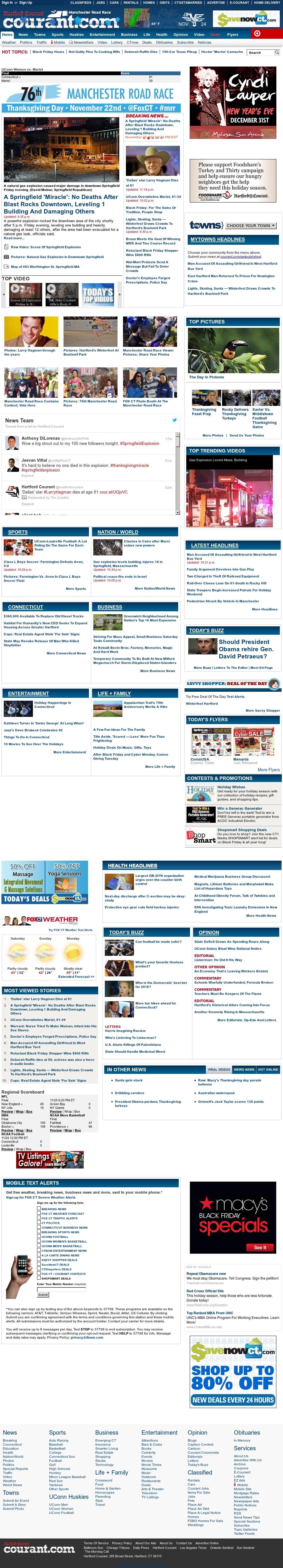 Hartford Courant at Saturday Nov. 24, 2012, 5:14 a.m. UTC