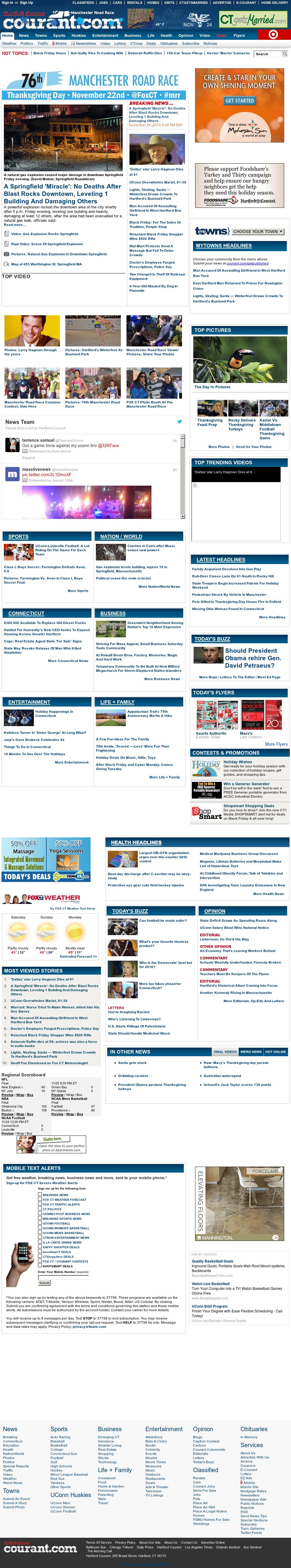 Hartford Courant at Saturday Nov. 24, 2012, 9:14 a.m. UTC