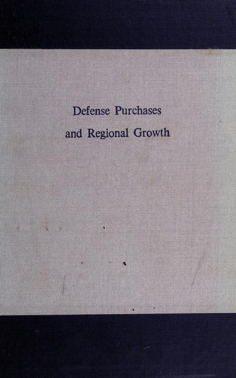 Defense purchases and regional growth by Roger E. Bolton